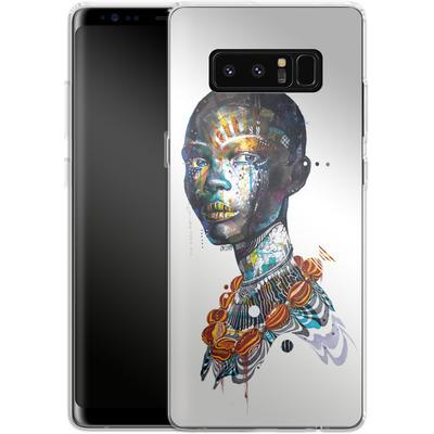 Samsung Galaxy Note 8 Silikon Handyhuelle - Zebra von Minjae Lee