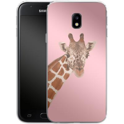 Samsung Galaxy J3 (2017) Silikon Handyhuelle - Giraffe Pride von Mukta Lata Barua