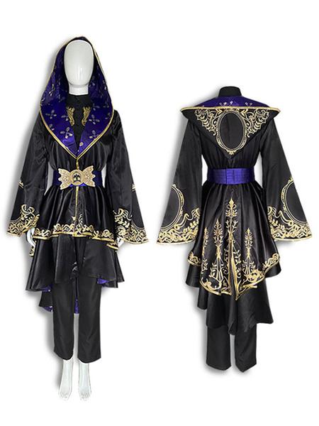 Milanoo Disney Twisted Wonderland Octavinelle Azul Summoning Robes Ashengrotto Cosplay Costuem Halloween