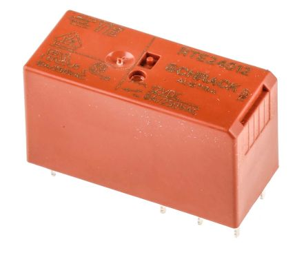 TE Connectivity , 12V dc Coil Non-Latching Relay DPDT, 8A Switching Current PCB Mount, 2 Pole (20)