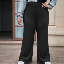 Pantalones de pierna ancha tejido de canale