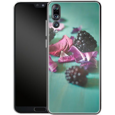 Huawei P20 Pro Silikon Handyhuelle - Stills Flowers Fruit von Joy StClaire