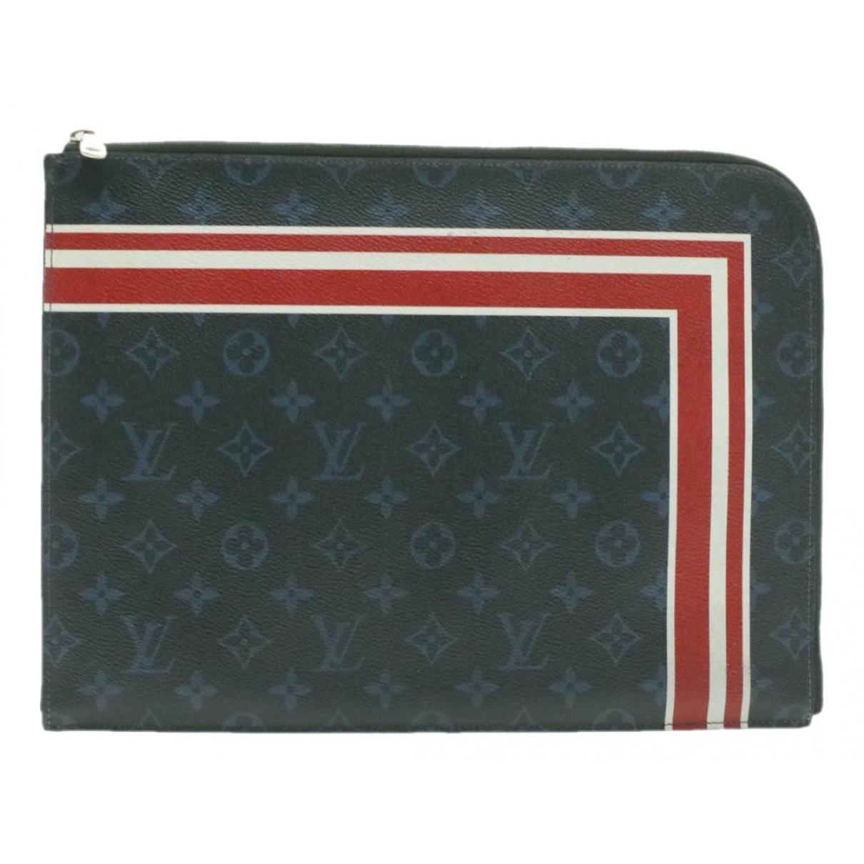 Louis Vuitton - Petite maroquinerie   pour homme en soie - gris