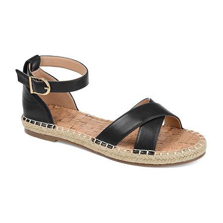 Journee Collection Womens Lyddia Strap Sandals, 10 Medium, Black