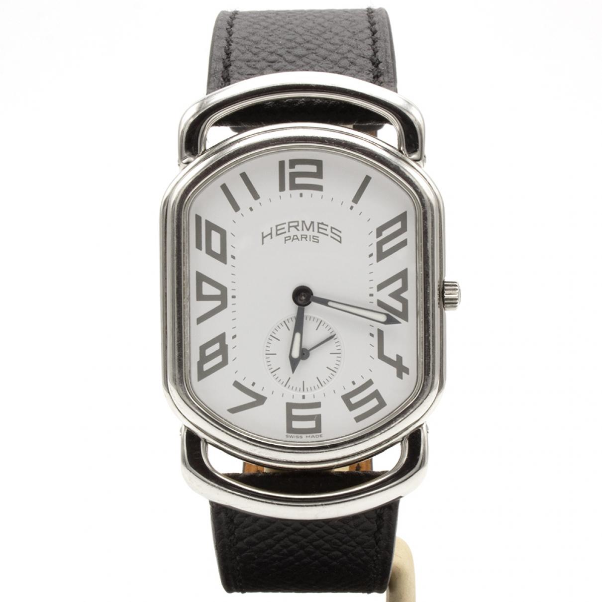 Hermès Rallye Silver Steel watch for Men \N