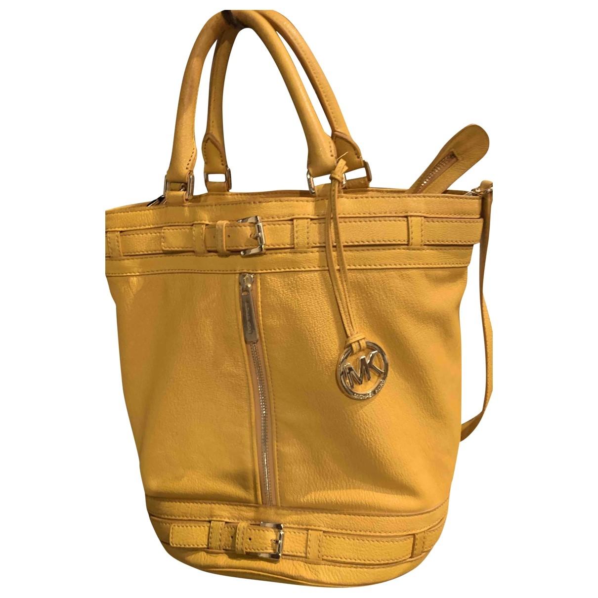 Michael Kors - Sac a main   pour femme en cuir - jaune