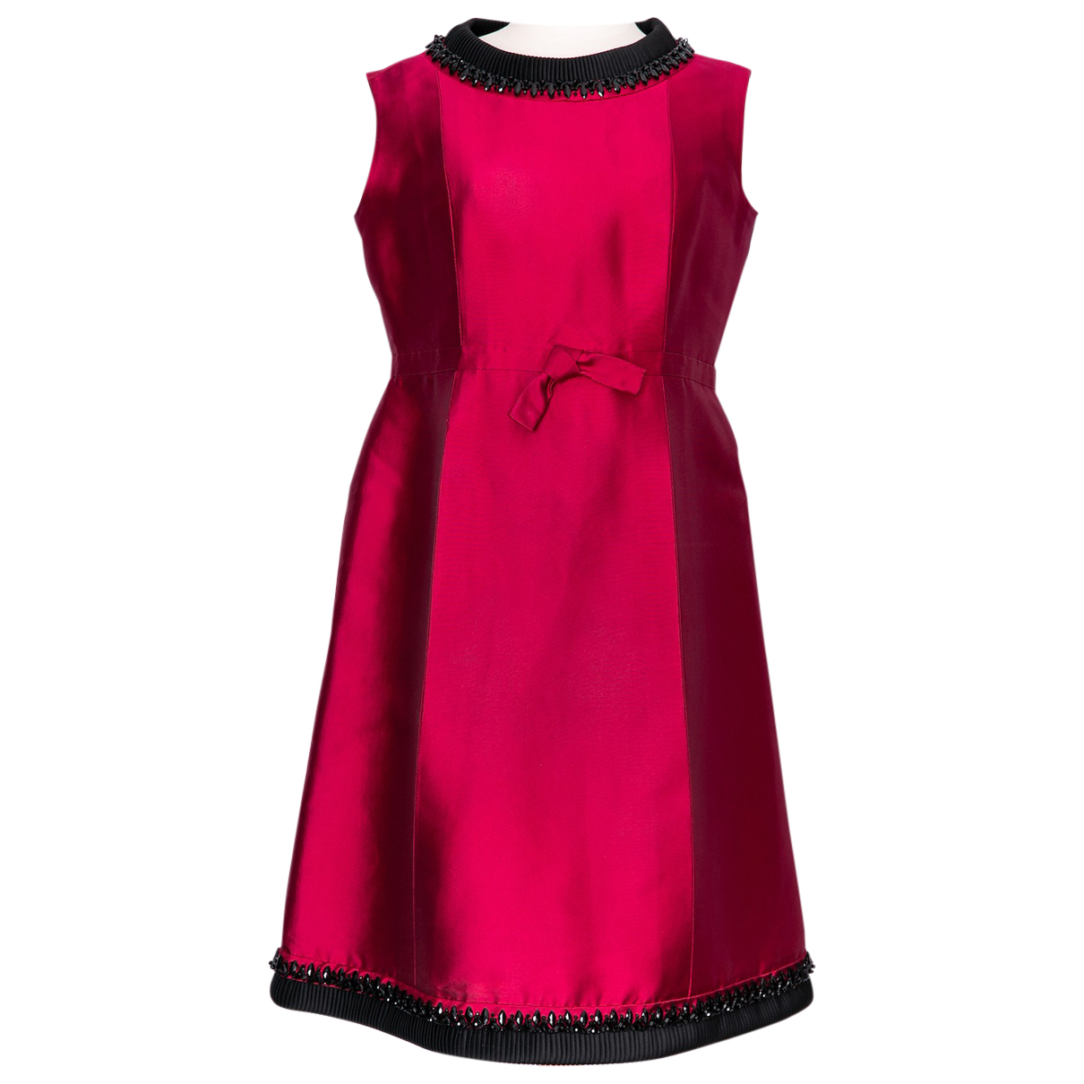 Non Signé / Unsigned N Pink Silk dress for Women 42 FR