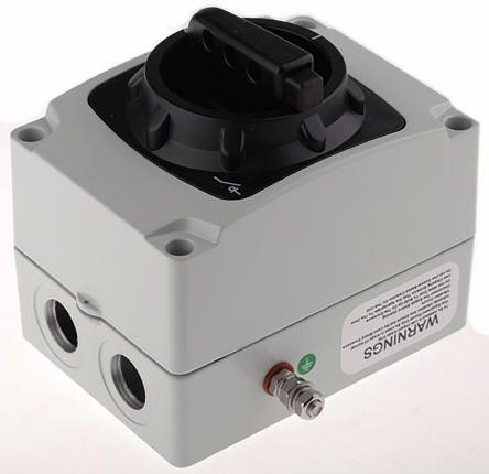 Craig & Derricott 6 Pole Enclosed Non Fused Isolator Switch - 20 A Maximum Current, 7.5 kW Power Rating