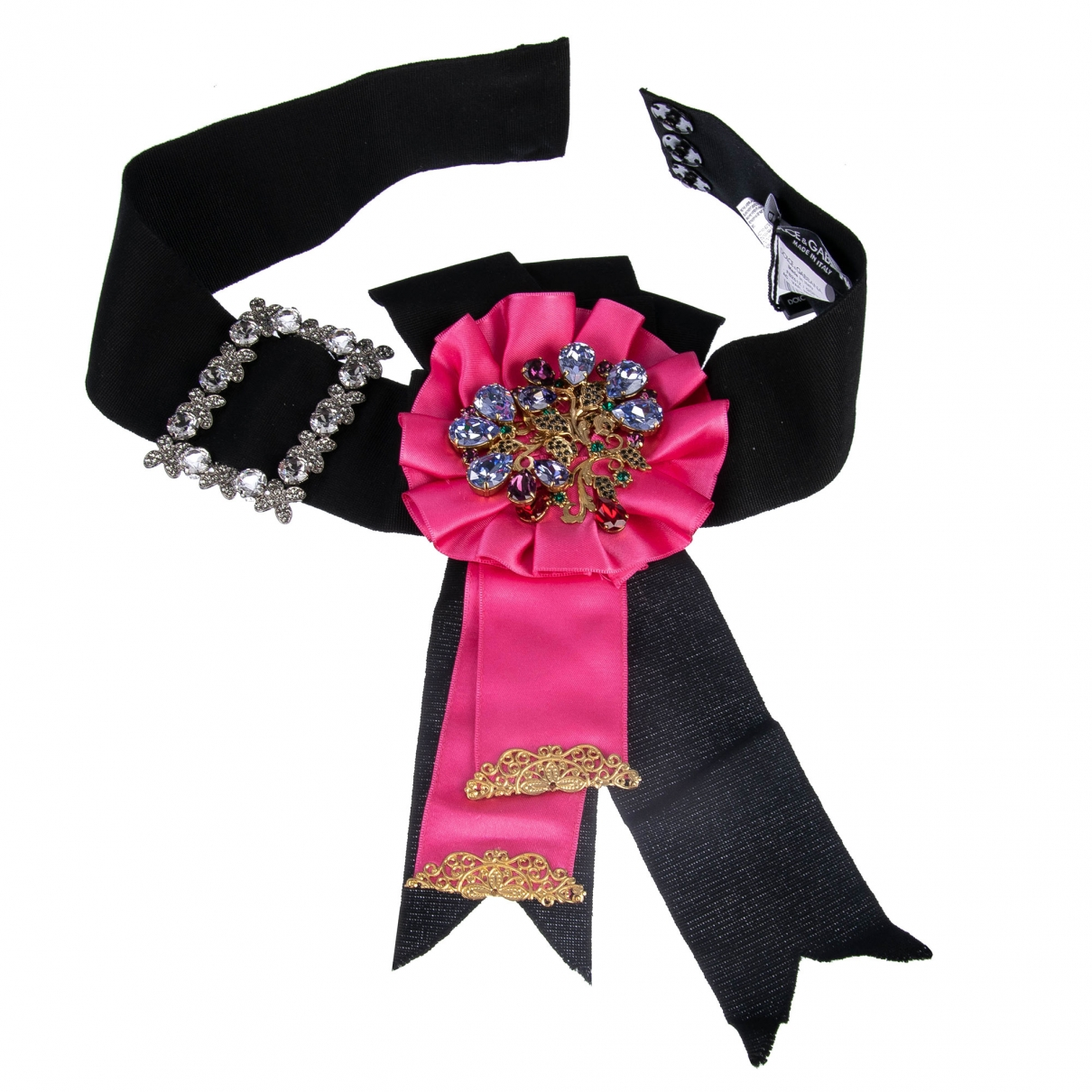 Dolce & Gabbana \N Guertel in  Rosa Leinen