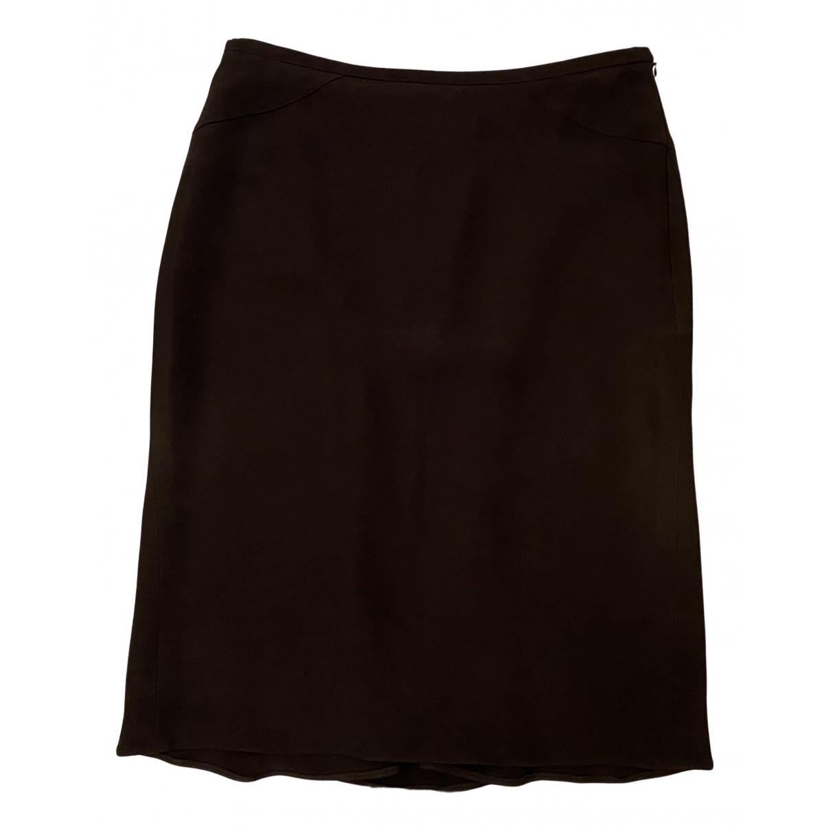 Armani Collezioni N Black Silk skirt for Women 38 IT
