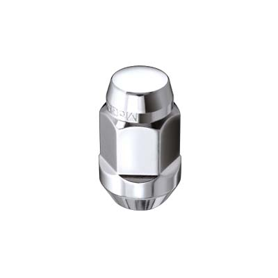 McGard 69473 Hex Lug Nut (Cone Seat Bulge Style) M14X1.5 / 22mm Hex / 1.635in. L (Box of 100) - Chrome