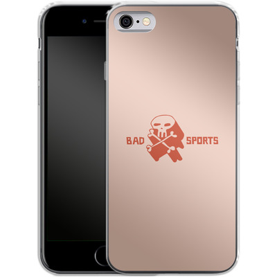 Apple iPhone 6s Silikon Handyhuelle - Bad Sports Skull von caseable Designs
