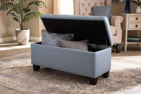 Select WS2005PLightBlueOTTO Baxton Studio Fera Modern and Contemporary Fabric Upholstered Storage Ottoman 35
