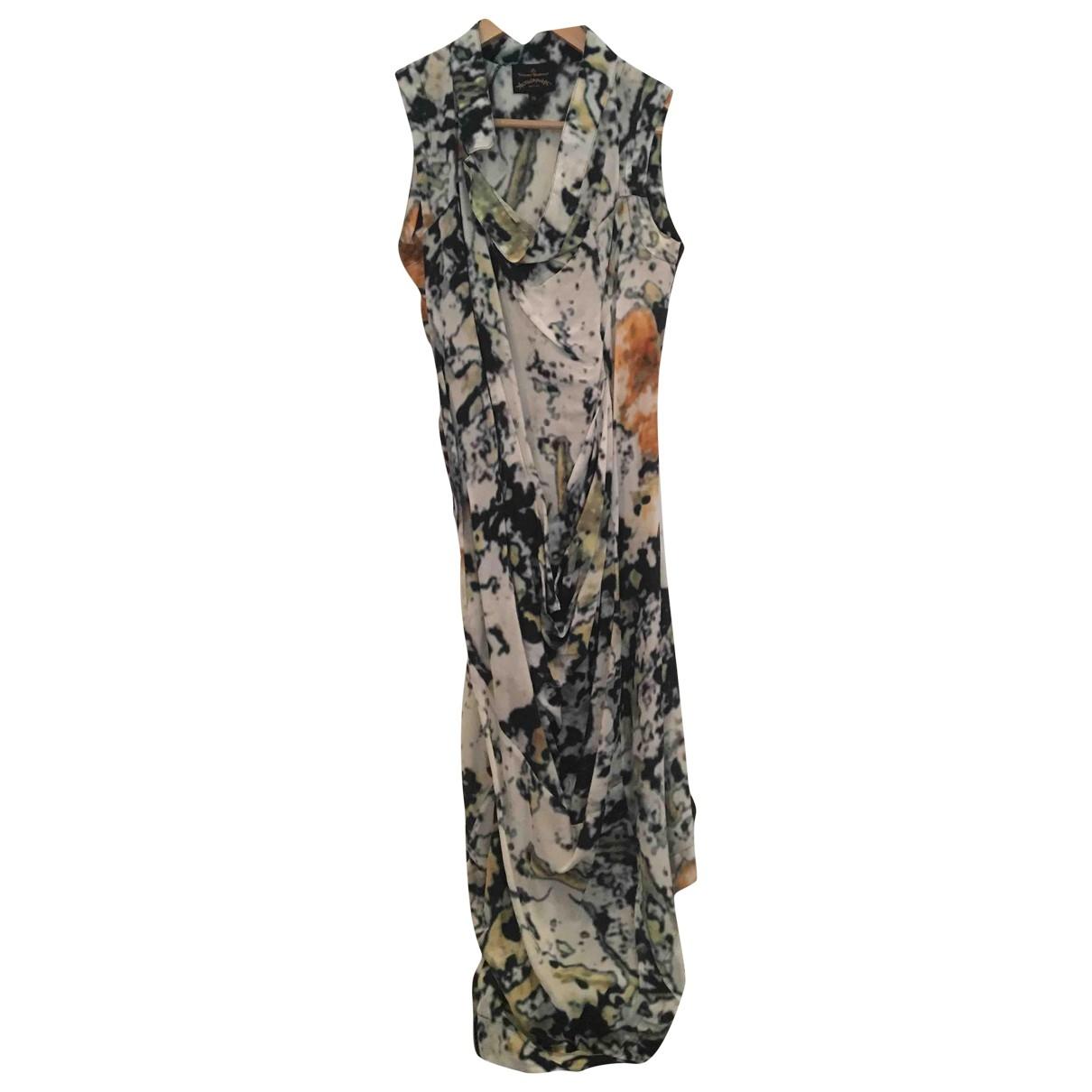 Vivienne Westwood Anglomania \N Kleid in  Gruen Seide