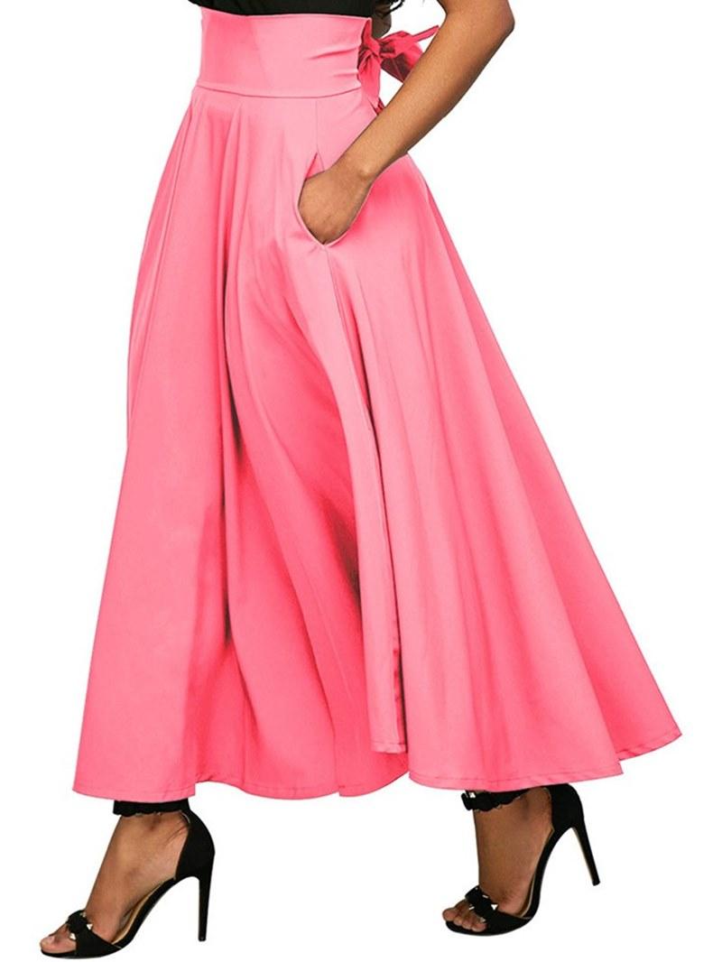 Ericdress Asymmetrical Pleated Plain Women's Skirt
