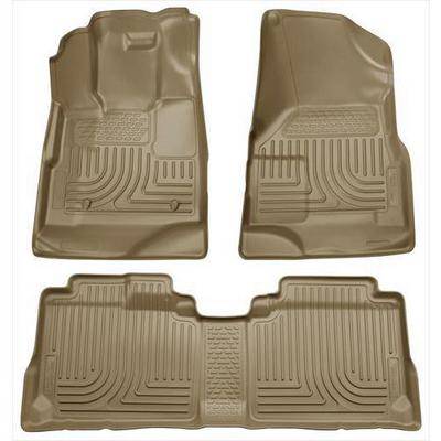 Husky Liners WeatherBeater Front and Rear Floor Liner (Tan) - 98143
