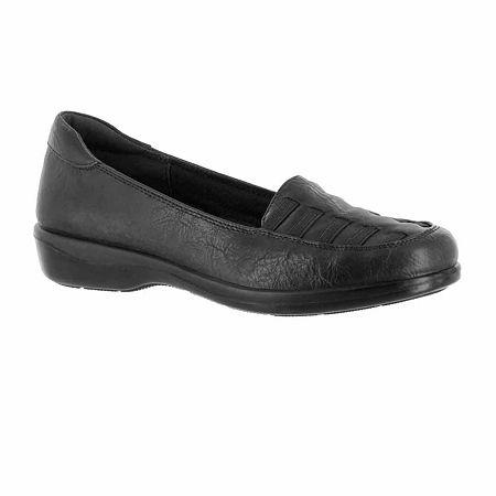Easy Street Womens Genesis Slip-On Shoe, 6 1/2 Medium, Black