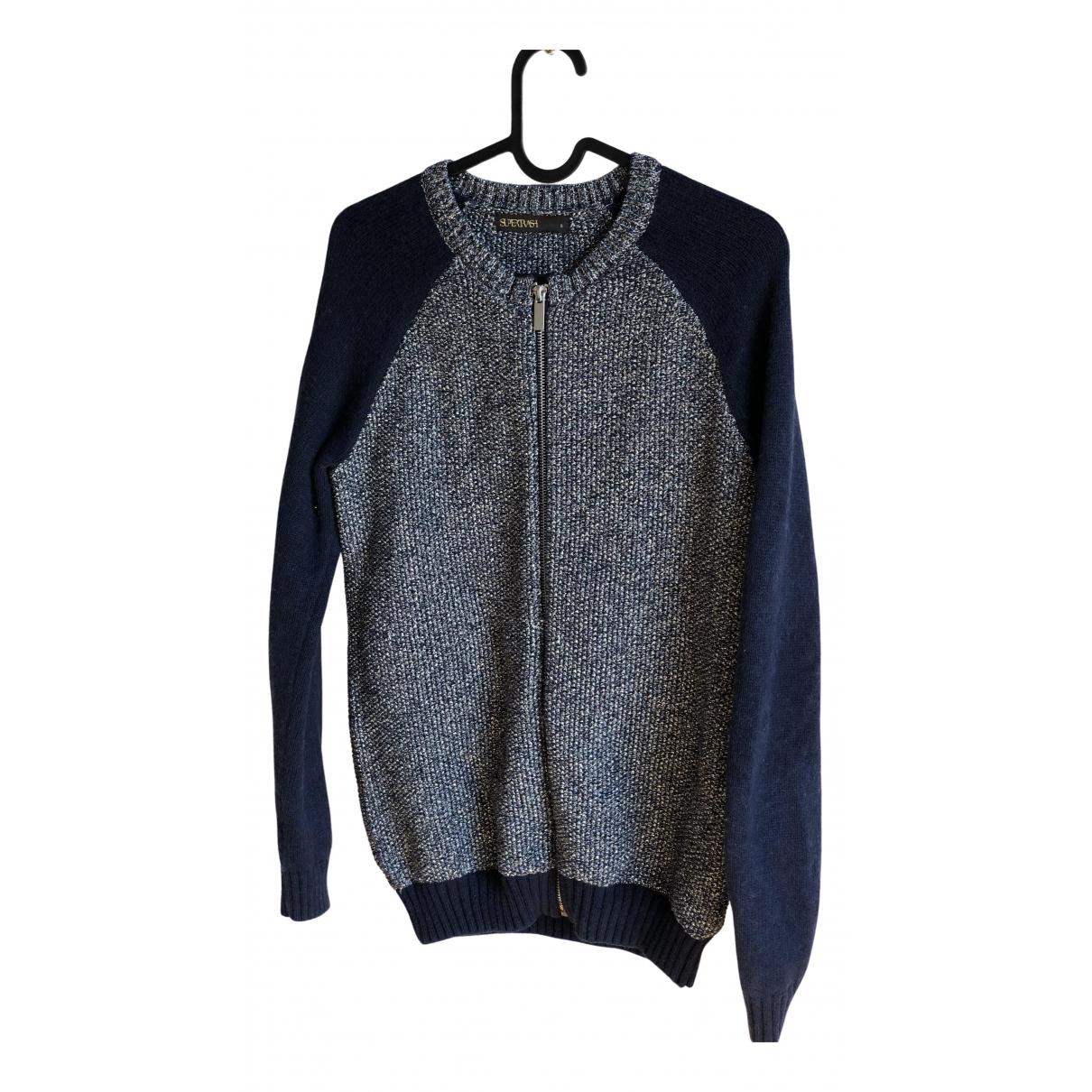 Supertrash - Pull   pour femme en coton - bleu