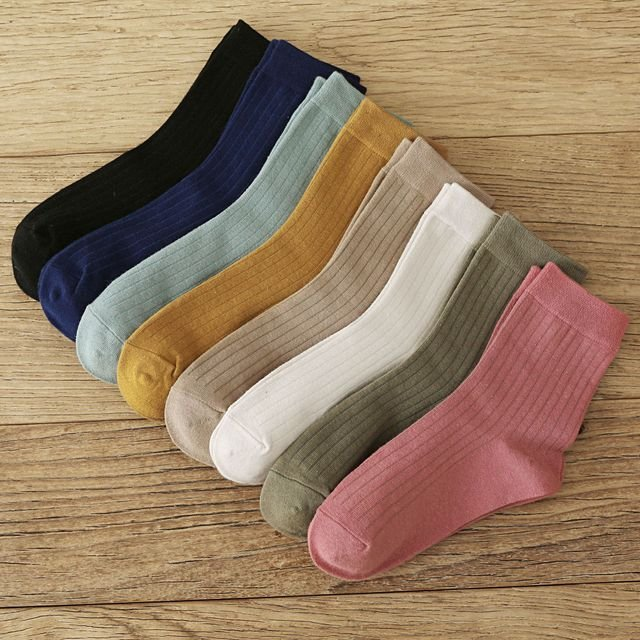New Product Pumping Socks Japanese Wild Color In The Tube Socks Cotton Fashion Socks Women