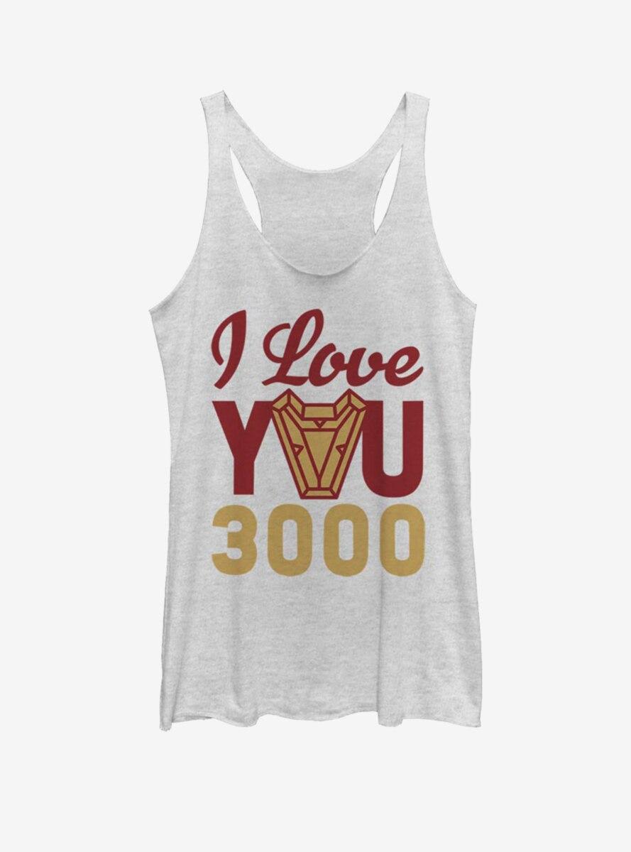 Marvel Iron Man Love You 3000 Arc Reactor Womens Tank Top