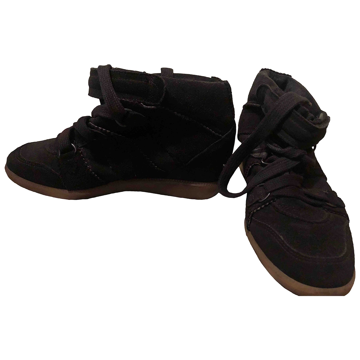 Isabel Marant Bobby Black Suede Trainers for Women 37 EU