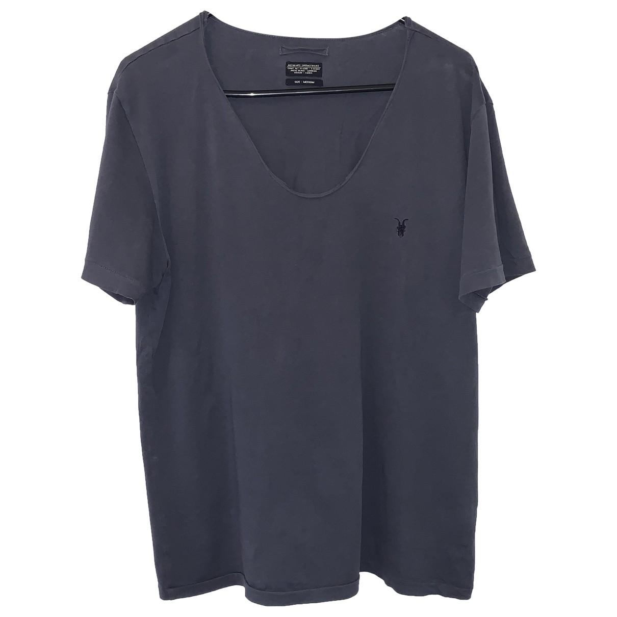 All Saints \N Grey Cotton T-shirts for Men M International