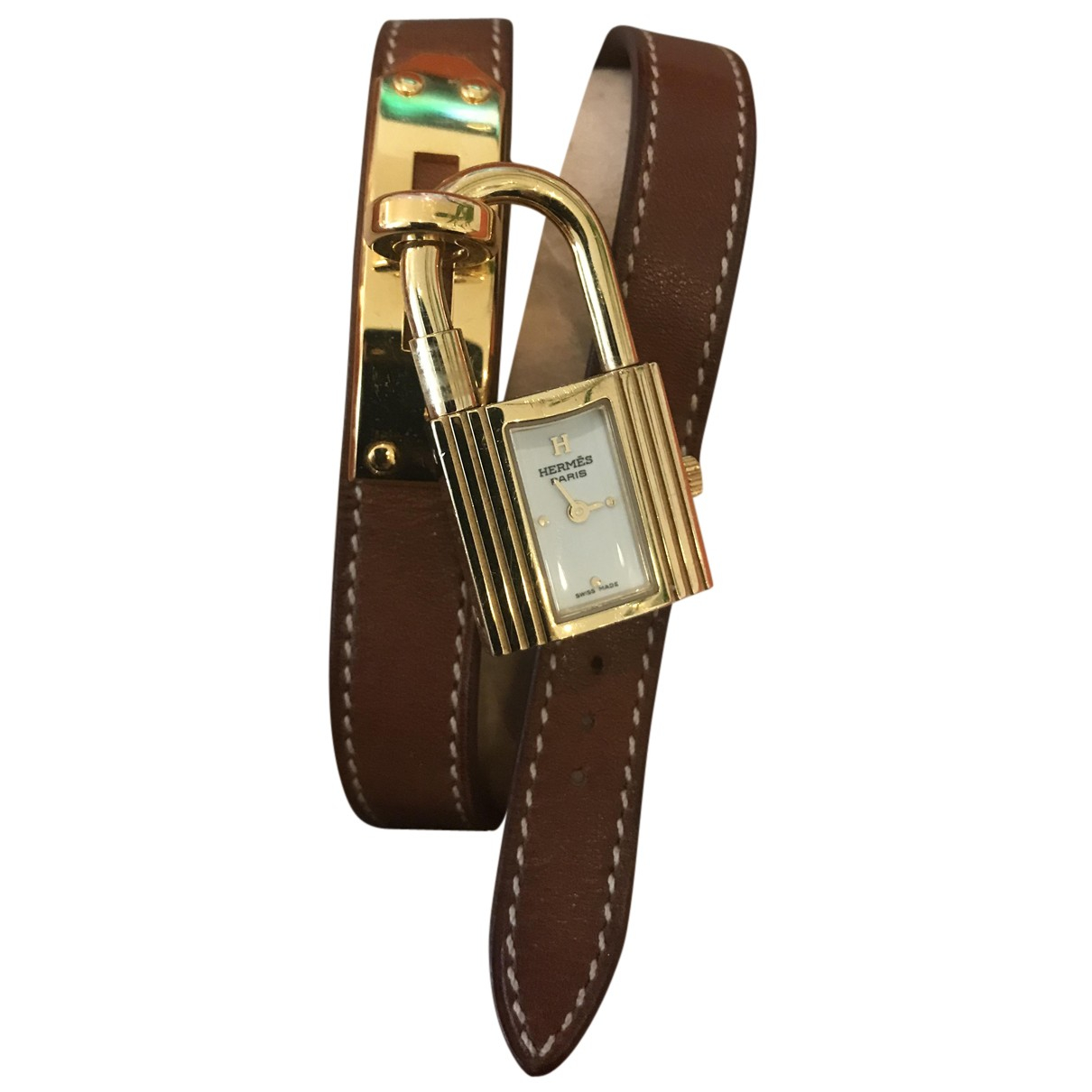 Hermès Kelly Gold Gold plated watch for Women N