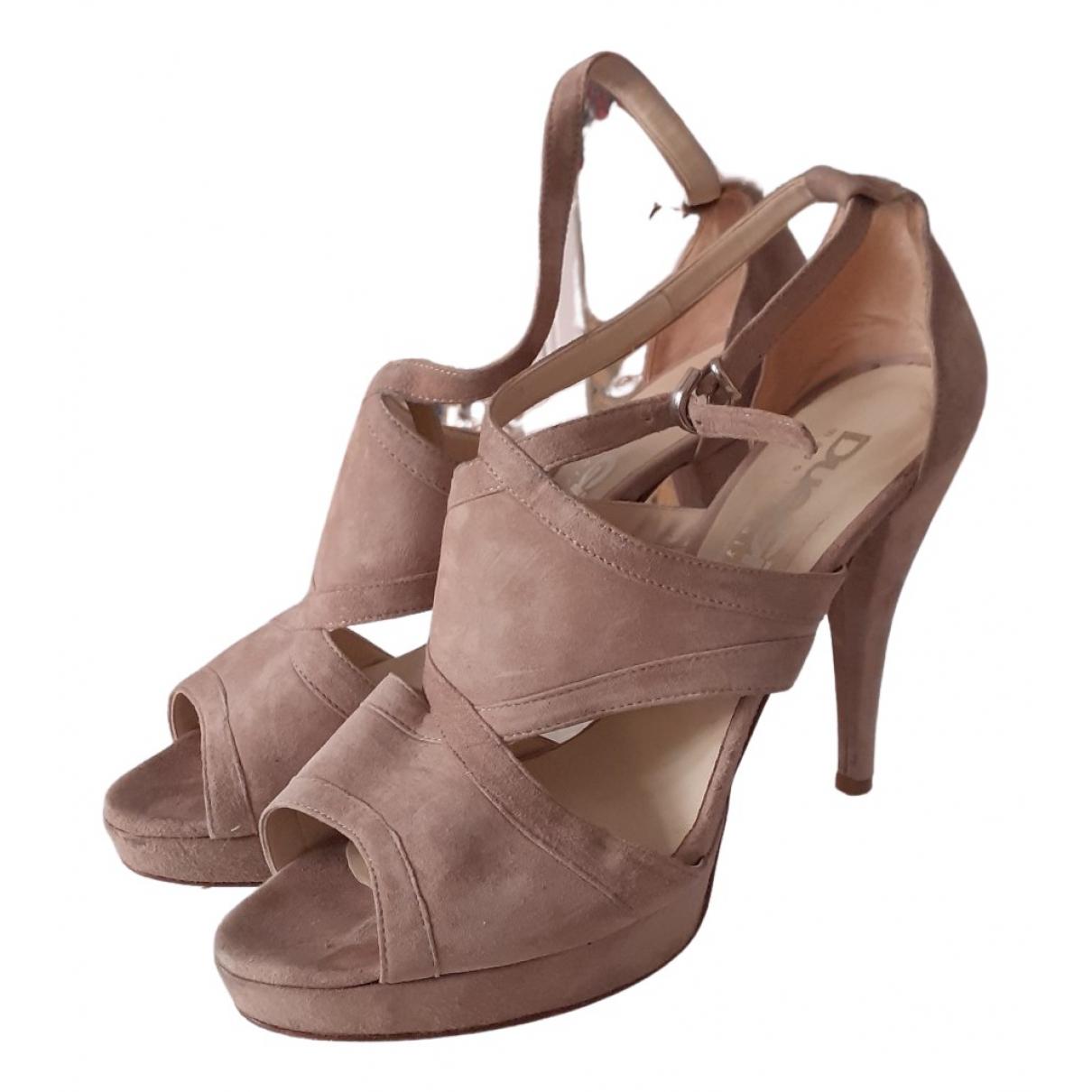 Non Signé / Unsigned N Beige Suede Sandals for Women 40 EU