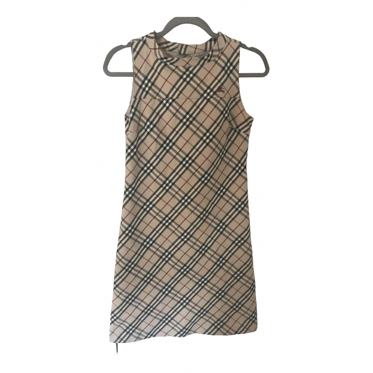 Burberry \N Kleid in  Beige Polyester