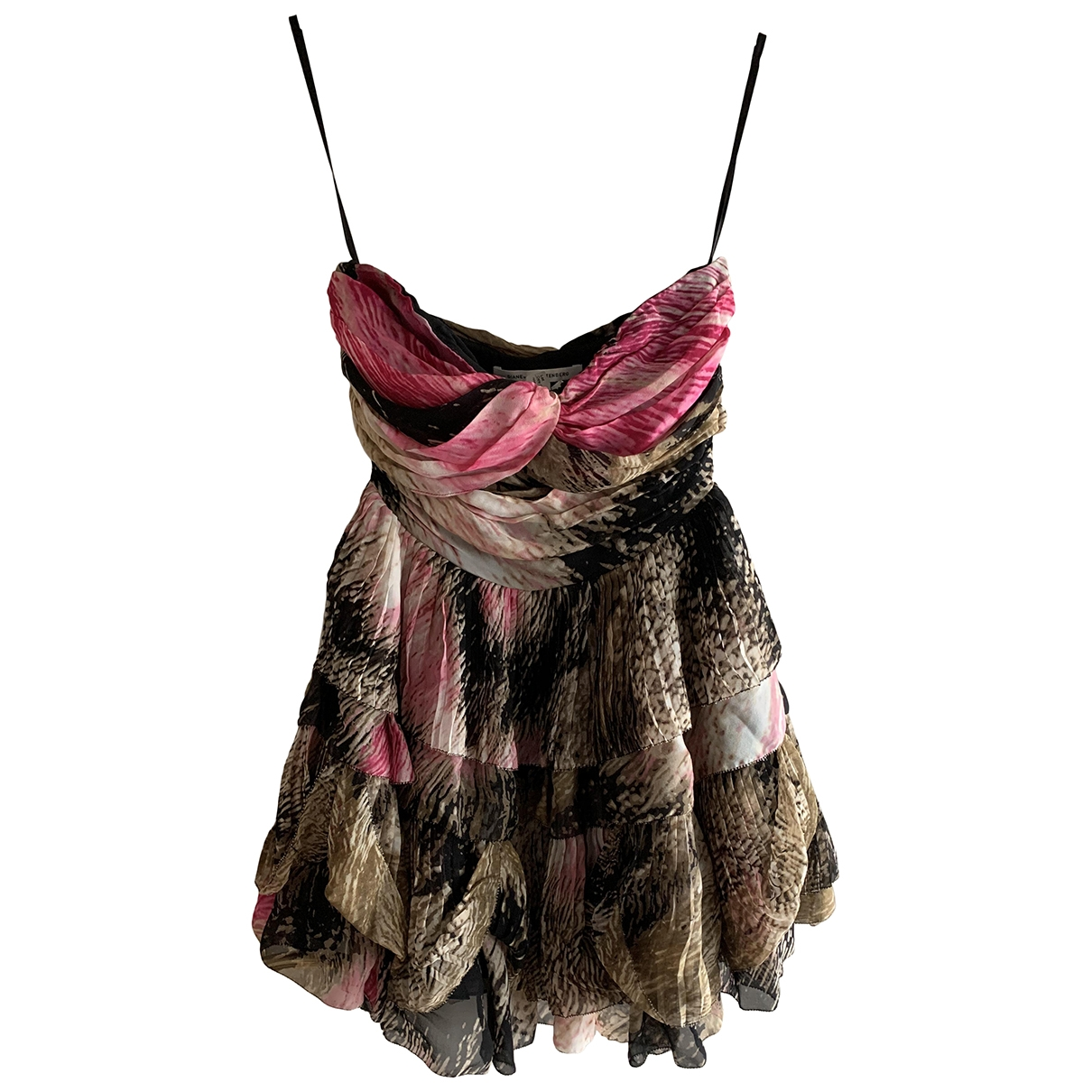 Diane Von Furstenberg - Robe   pour femme en soie - beige