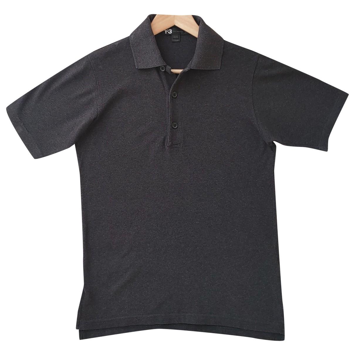 Y-3 - Polos   pour homme en coton - anthracite