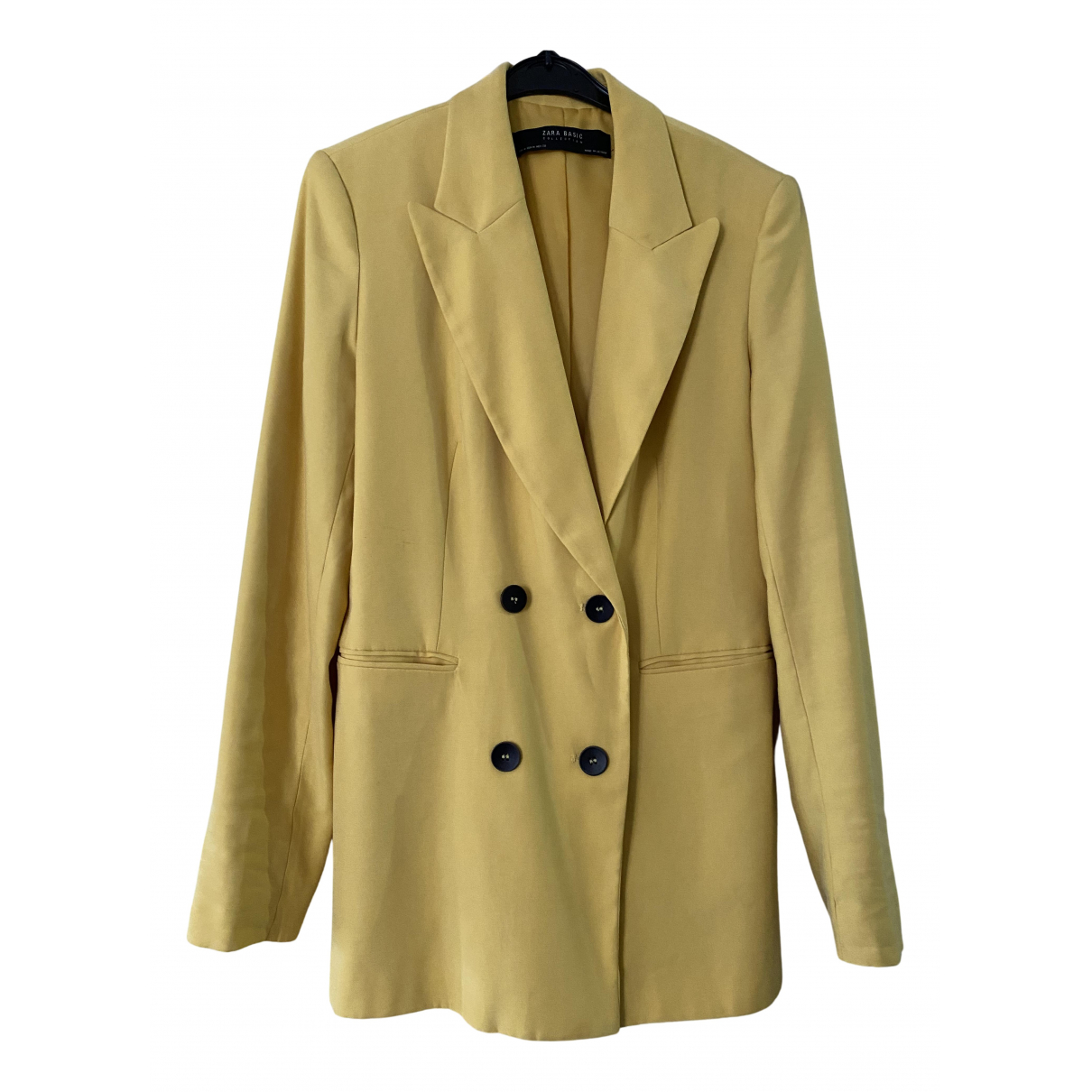 Zara N Yellow coat for Women 36 FR