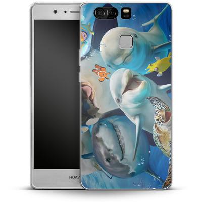 Huawei P9 Silikon Handyhuelle - Ocean Selfie von Howard Robinson