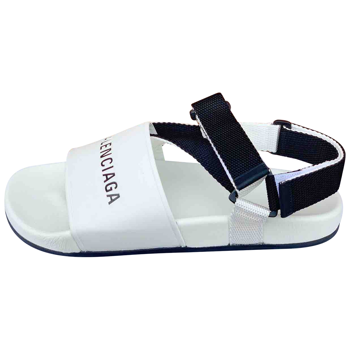 Balenciaga \N White Leather Sandals for Men 41 EU