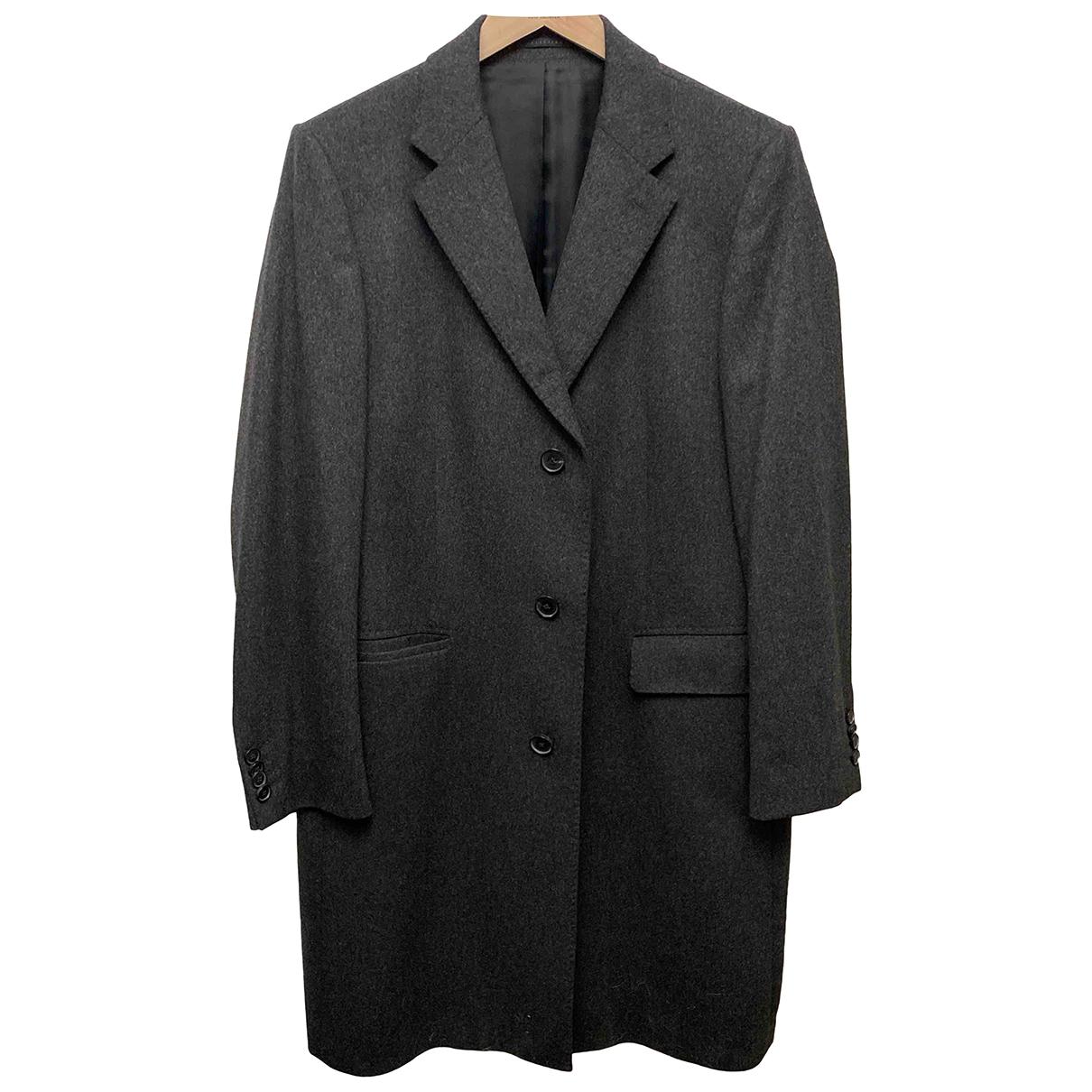 Hugo Boss - Manteau   pour homme en cachemire - anthracite