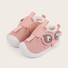 Baby Maedchen Sneakers mit Karikatur Design und Klettverschluss