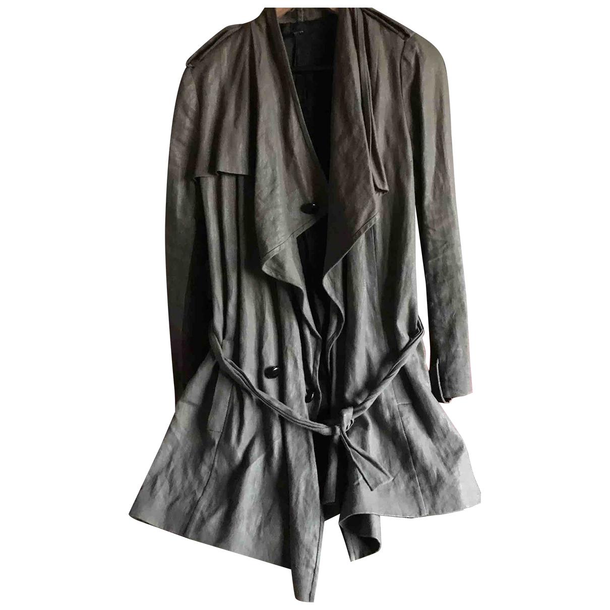 Joseph - Manteau   pour femme en lin - gris