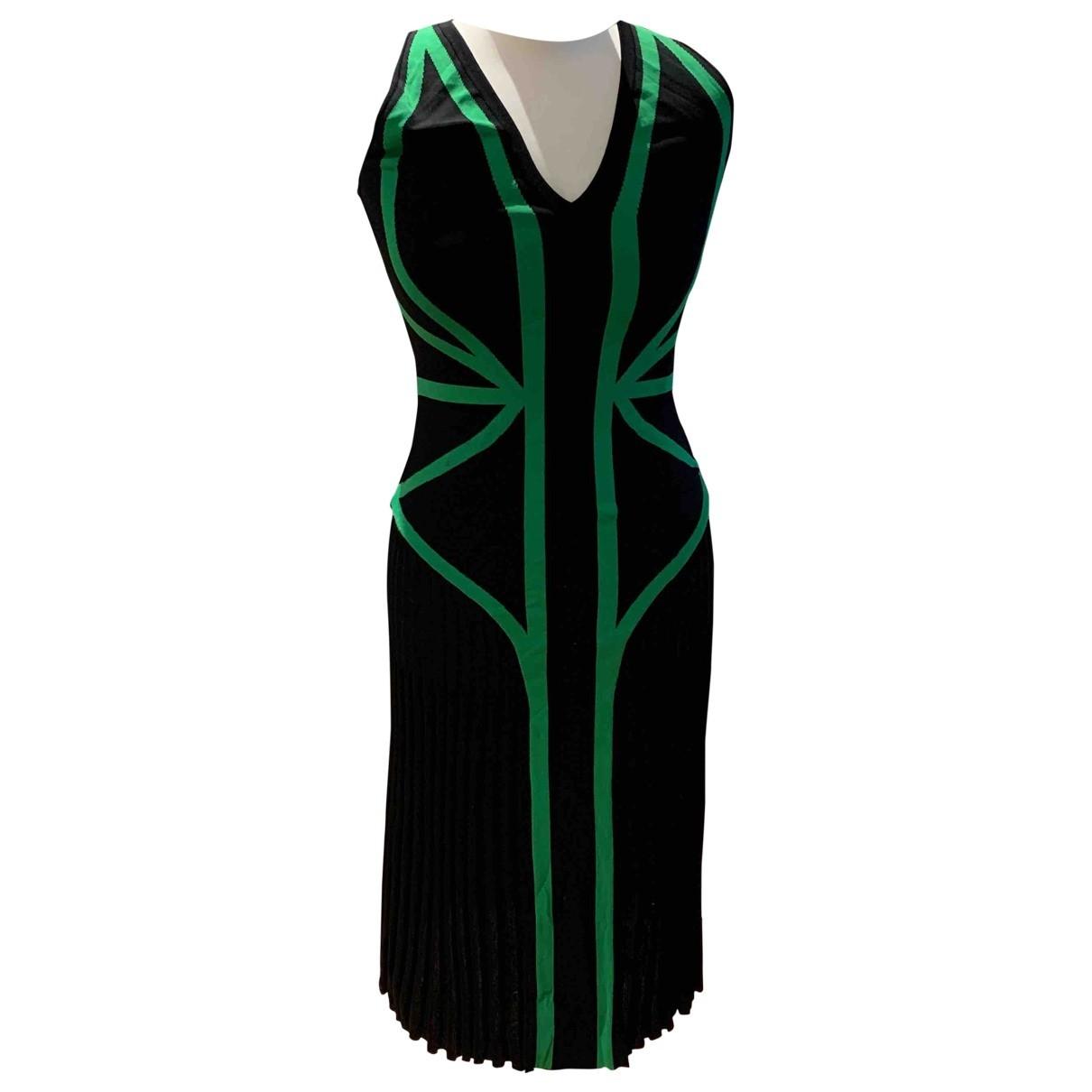 Alexander Mcqueen \N Kleid in  Gruen Baumwolle - Elasthan