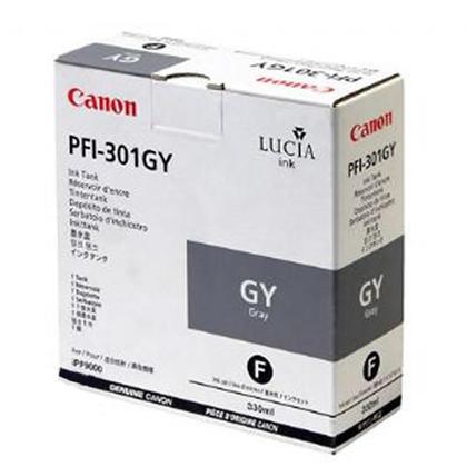 Canon PFI-301GY 1495B001AA Original Pigment Gray Ink Cartridge