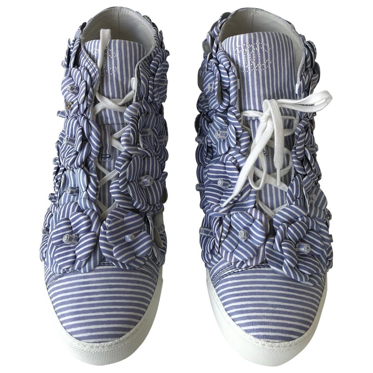 Chanel - Baskets   pour femme en toile - bleu