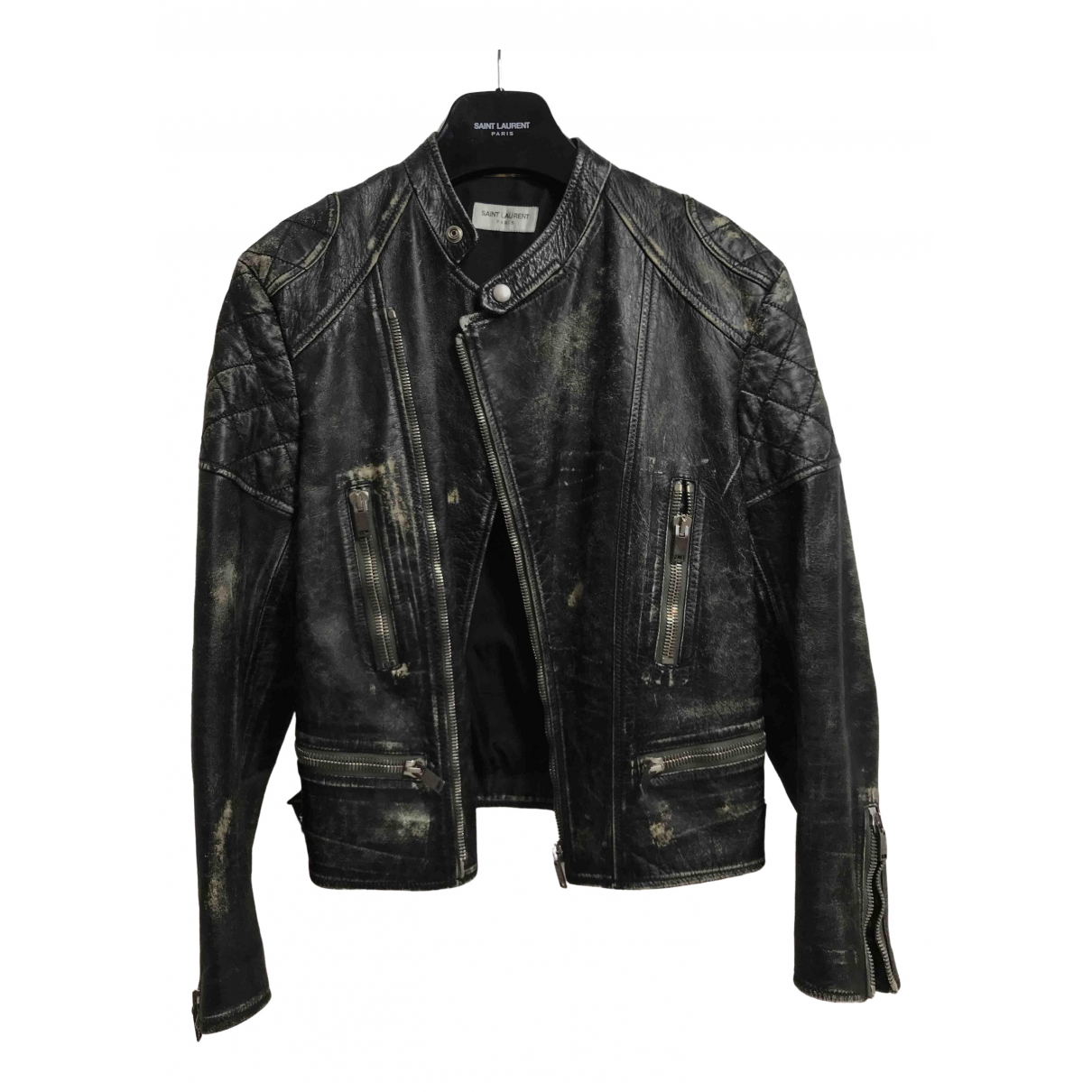 Saint Laurent \N Black Leather jacket  for Men M International