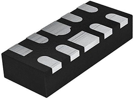 Texas Instruments TPD4E02B04DQAR, Quad-Element Bi-Directional ESD Protection Array, 17W, 10-Pin USON (20)