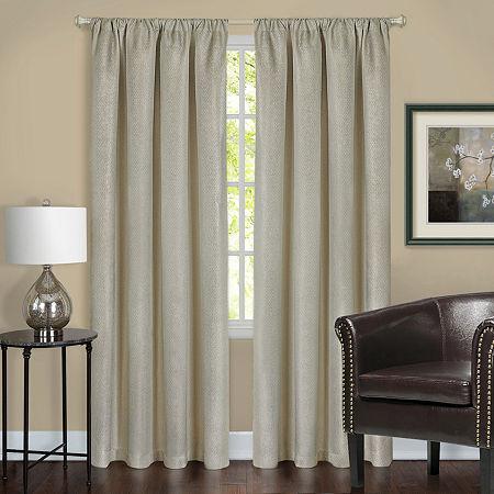 Harmony Blackout Rod-Pocket Single Curtain Panel, One Size , Yellow
