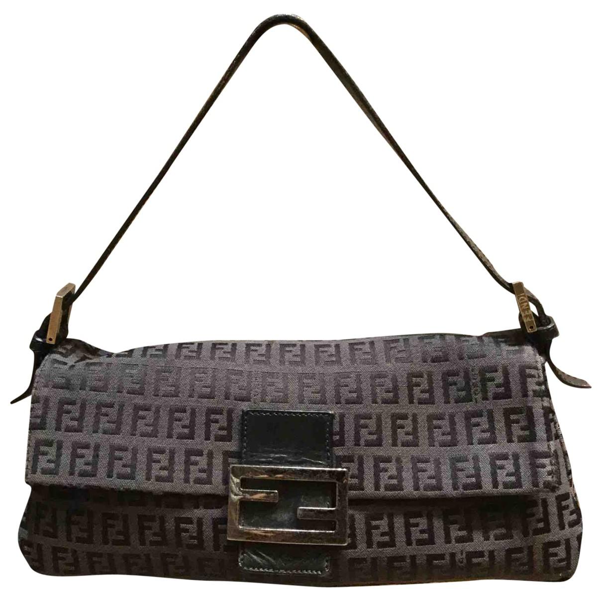 Fendi Baguette Black Cloth handbag for Women N
