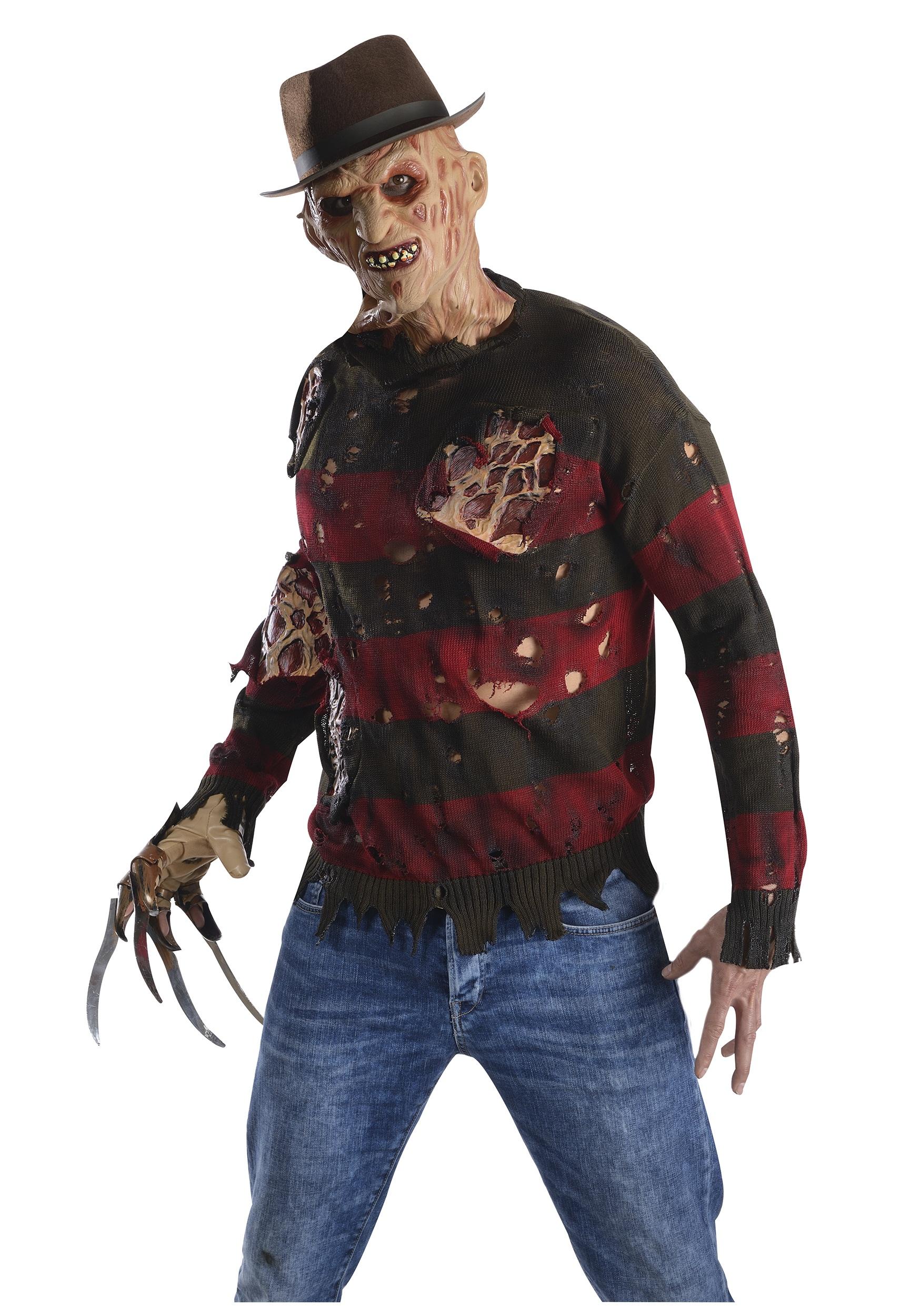 Freddy Krueger Men's Costume Sweater w/ Burned Flesh