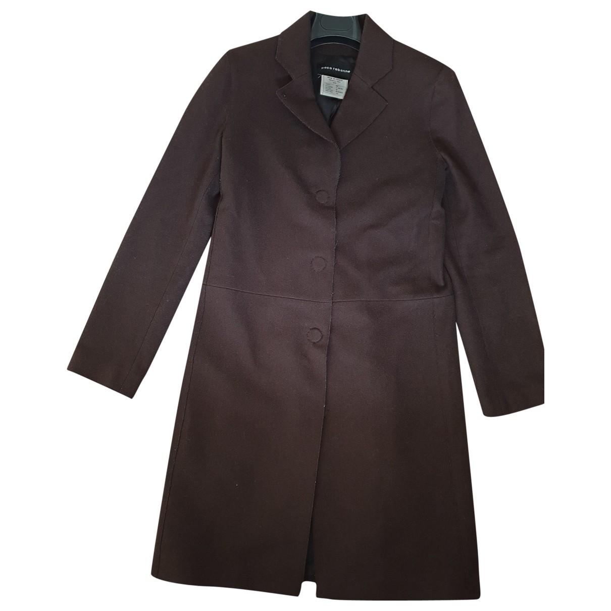 Paco Rabanne - Manteau   pour femme en laine - marron