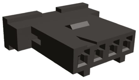 TE Connectivity Connector Housing, 2.54mm Pitch, 4 Way, 1 Row