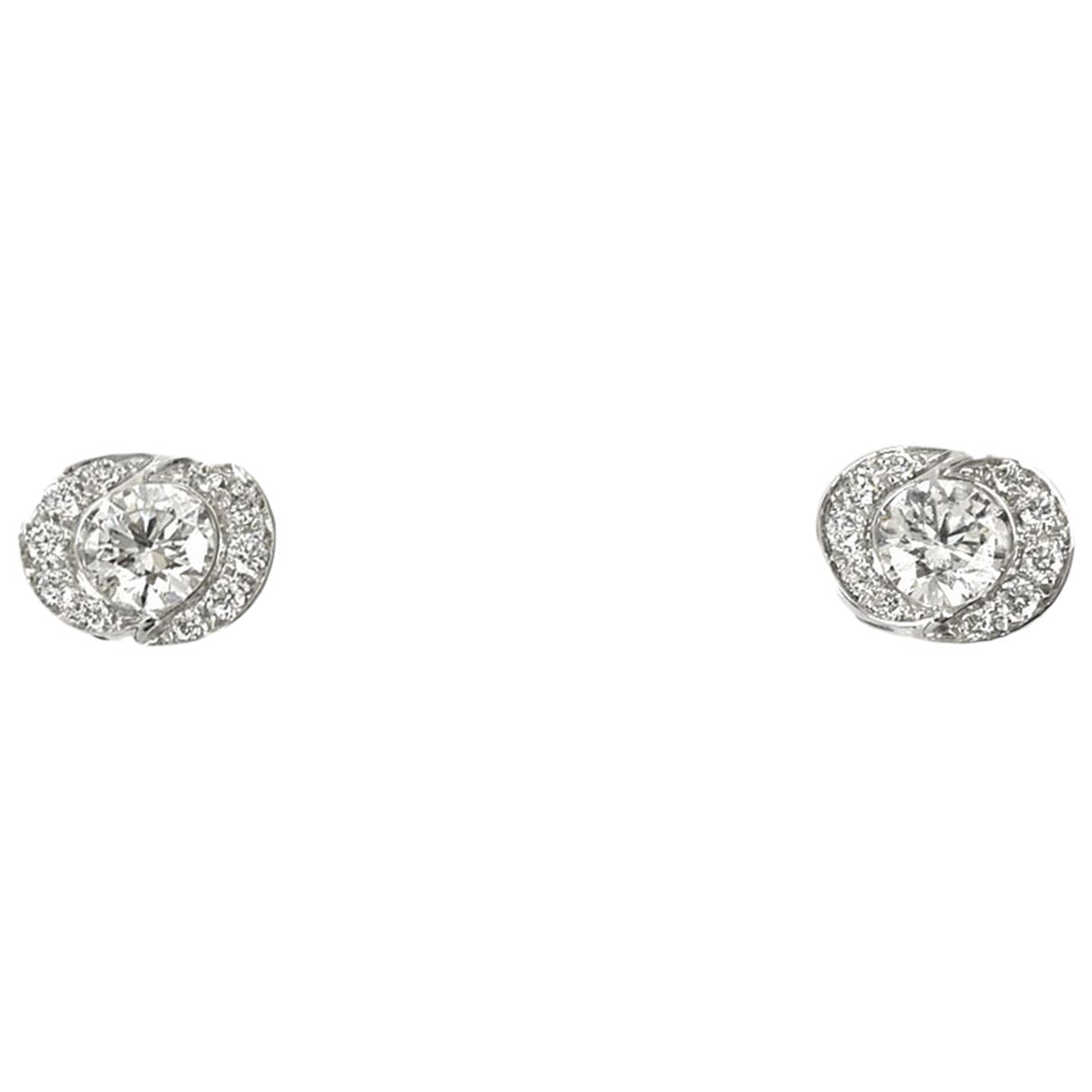 Bvlgari \N Silver White gold Earrings for Women \N