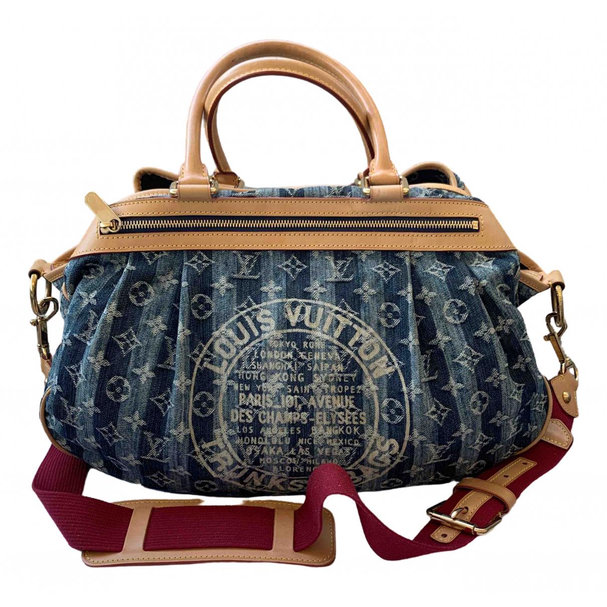 Louis Vuitton \N Handtasche in  Blau Denim - Jeans