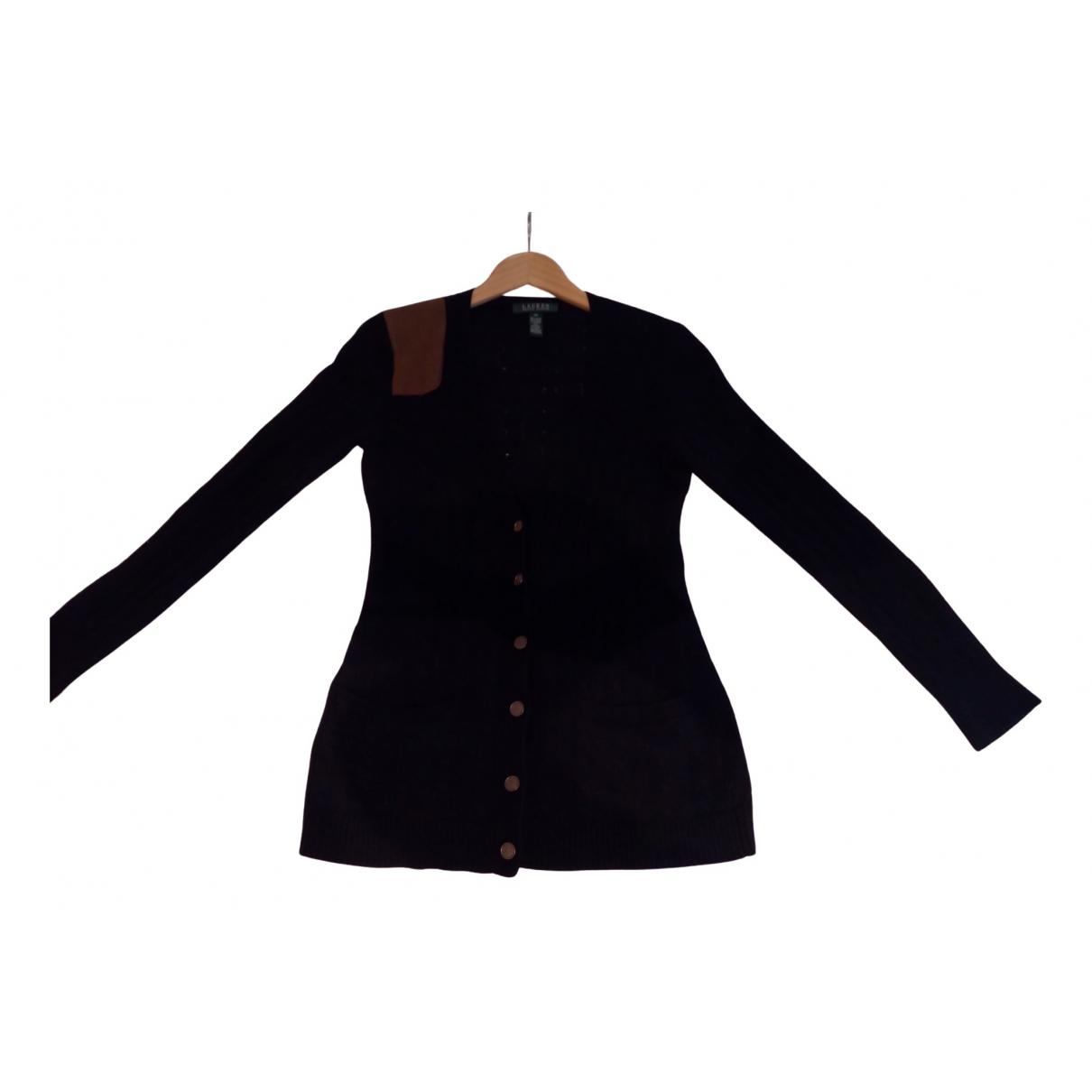 Lauren Ralph Lauren - Pull   pour femme en laine - noir
